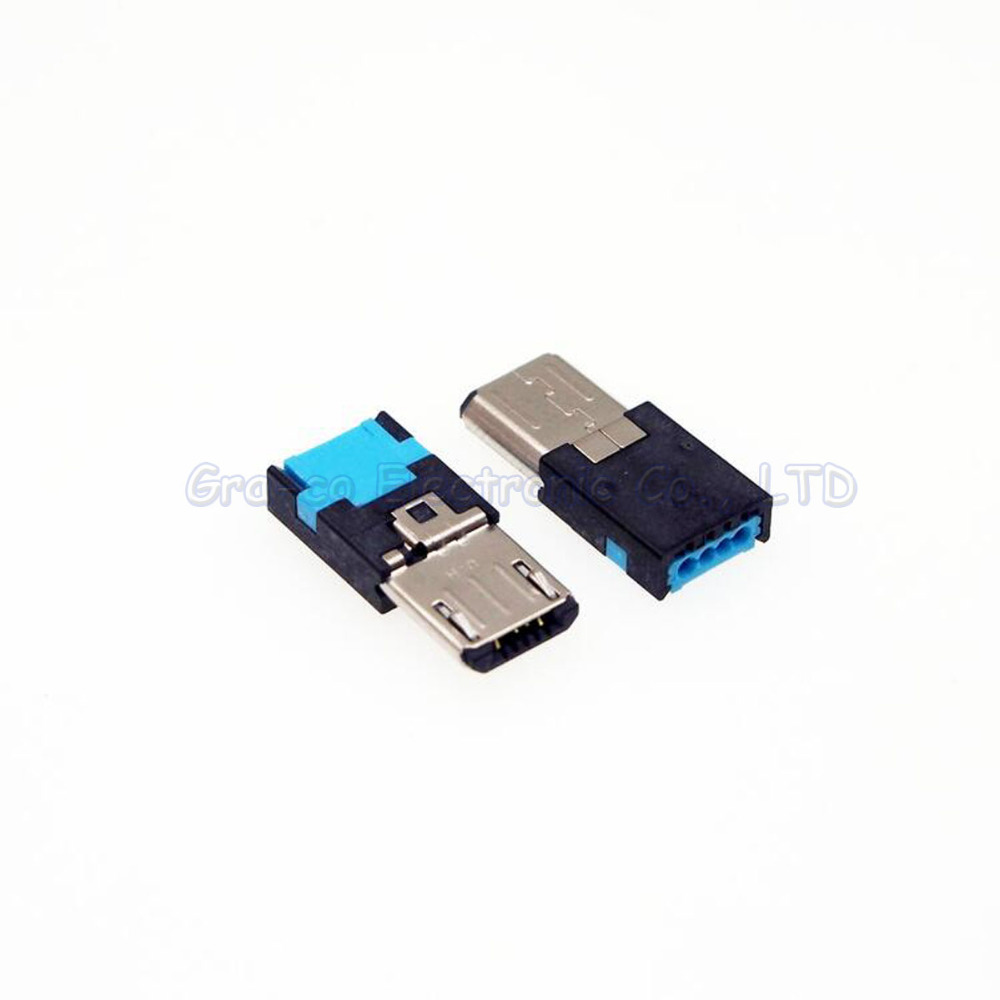 Unterhaltungselektronik Datenkabel Nett 10 Stücke Original Für Samsung Micro Usb Stecker Mike 5 P Usb Lade Stecker Kein Schweißen Solderless Typ