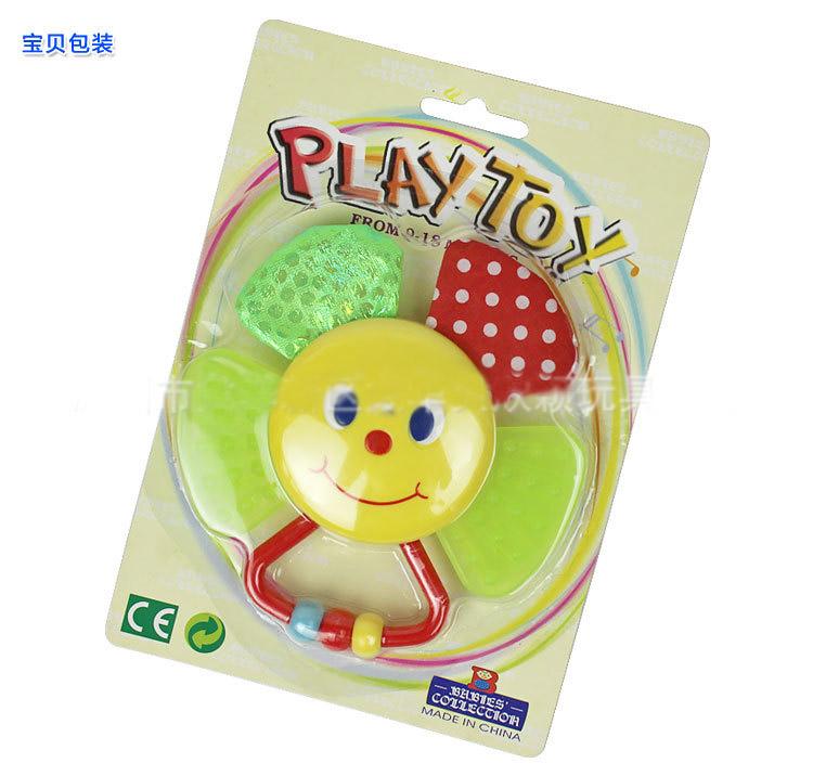 nueva colorful sunflower juguetes para bebs juguetes mano sonajeros con papel del anillo mordedor beb juego