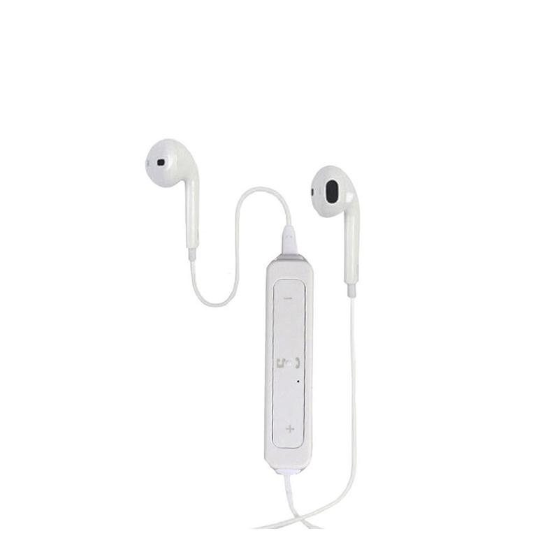Sports Wireless Bluetooth 4.1 Earphone Headphone with Mic for iPhone Samsung Nokia Xiaomi (White) wireless headphones v4 1 bluetooth earphone stealth sports headset ear hook earpiece with mic for iphone 7 7s samsung xiaomi