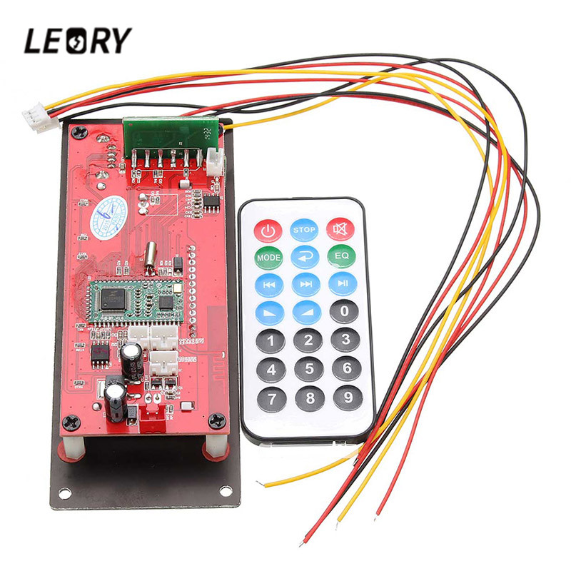LEORY Wireless MP3 Decoding Board bluetooth 4.0 Lossless Audio Module Support Radio Record SD USB APP Control APE FLAC WMA AUX image