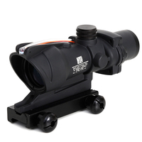 ACOG 4X32 Real Fiber Riflescope Optics Red Dot Scope Sights Illuminated Chevron Glass Etched Reticle Tactical Optical Sight