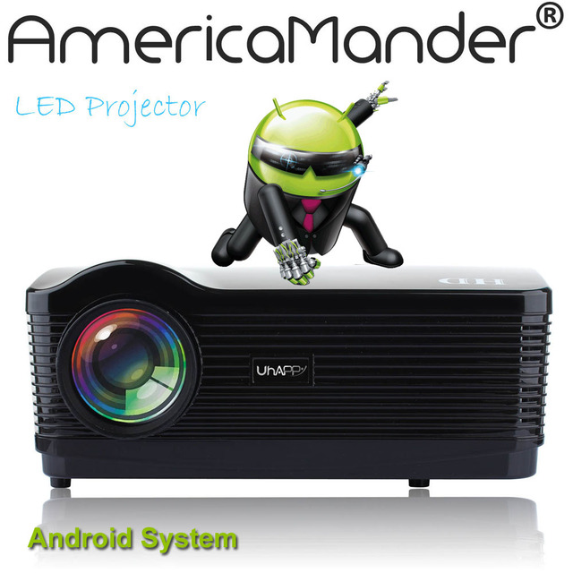 """300"""" Android WIFI Bluetooth Brightest 3000Lux Full HD DLP Business Advertising Education 3D Projector Beamer Projektor Proyector"""