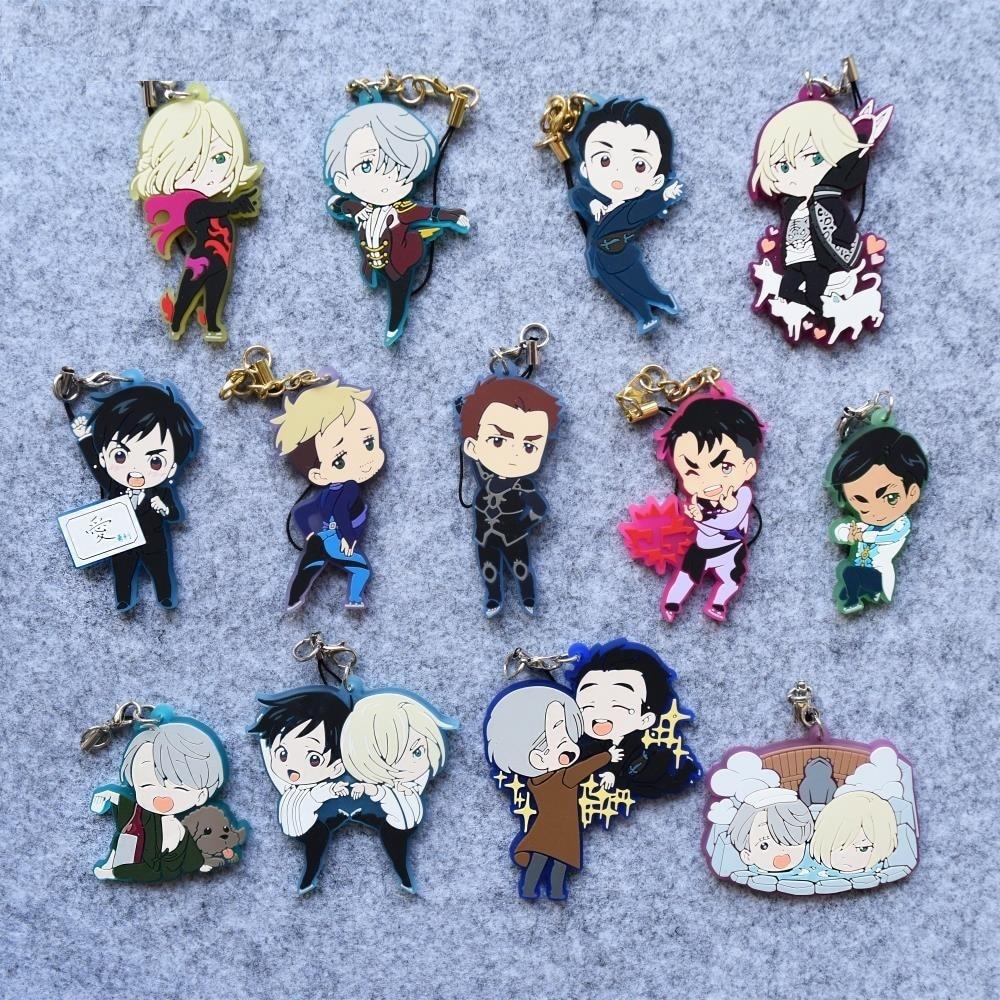 Yuri!!! on Ice Anime Nikiforov Victor Plisetsky Yuri JJ Dancing Ver Japanese Rubber Keychain