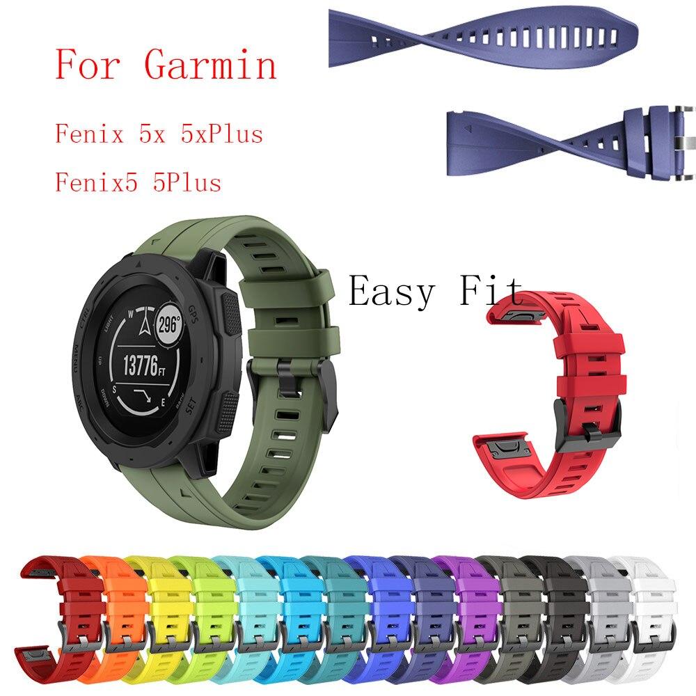 Fivstr New Smooth Pattern Easyfit Watchband For Garmin Fenix 5X 5 Plus 3 3HR D2 S60 MK1 Smart Watch Quick Release Wrist Strap