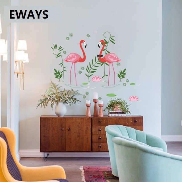 Living Room Design Tool: Fashion Flamingo Design Wall / Glass Windows Sticker For