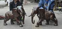 christmas Lucky Chinese fengshui bronze wealth Ruyi Auspicious Elephant Animal statue pair halloween