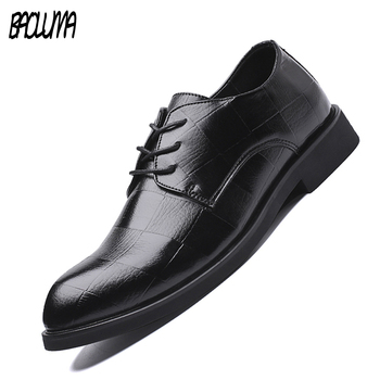 2019 Really Leather High Quality Leather Business Casual Shoes Men Dress Wedding Luxury Shoes Male Breathable Oxfords Men Formal