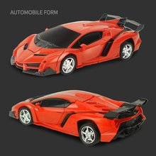 Car Transformation Robots Sports Vehicle Model Robots Toys Wireless Charging Cool Deformation Car With Battery Kids Toys