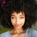 Full Lace Human Hair Wigs Afro Kinky Curly Wig 7A Malaysian Virgin Hair Lace Front Human Hair Wig For Black Women With Baby Hair
