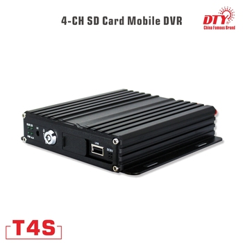 T4S(3G+GPS), 4ch 720p mdvr with 3g gps, ahd real time 4 pin aviation connector