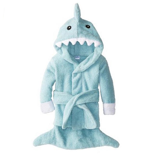 Bebé Aspen deje la aleta comienzan Terry Shark robe, Animal de la historieta toalla / Character kids bath Robe / children ' s albornoz 5 colores