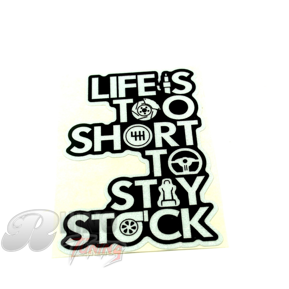 Funny Styling LIFE IS SHORT Cool Sticker Car Motorcycle House Wall - Cool custom motorcycle stickers