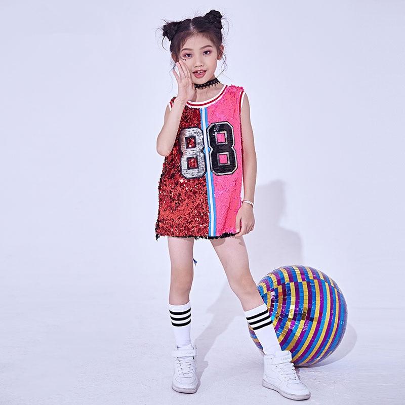 Affidabile Nuovi Bambini Costumi Di Danza Jazz Costume Di Paillettes Hip Hop Di Strada Danza Delle Ragazze Di Abbigliamento Performance Di Danza