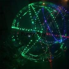 Светодиодный надувной гигантский танцевальный шар из ПВХ для