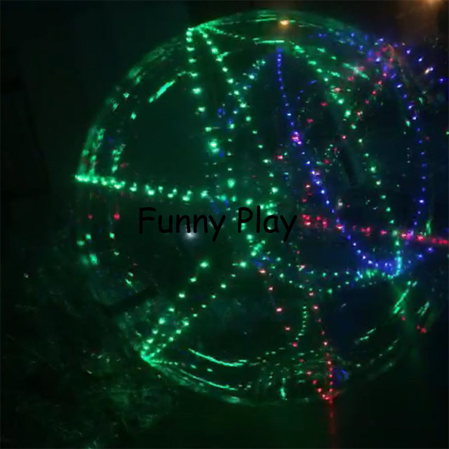 pvc led inflatable giant dancing ball water walking zorb ball globe Clear Bubble Inflatable Stage Dance Ball with colorful light