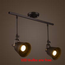 Loft Retro 5W/10/15W/20W Led Track Lights Spotlight Clothing Shoes Stores Bar Lamps European Industrial Indoor Track Lighting(China)