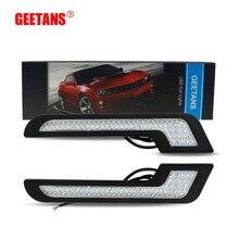 GEETANS DRL Daytime Running Light Fog Lights 2Pcs Super Bright Waterproof 5730 Chip White L Shape Bulbs Universal Car Styling