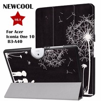 Case For Acer B3 A40 Tablet Painted PU Leather Folio Stand Auto Wake Smart Cover Case