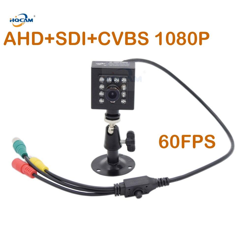 HQCAM 50fps 60fps ночное видение AHD + SDI + CVBS 1080 P SDI ИК камера потолочная камера 1/3 дюйма 2.1MP датчик Панасоник мини SDI камера