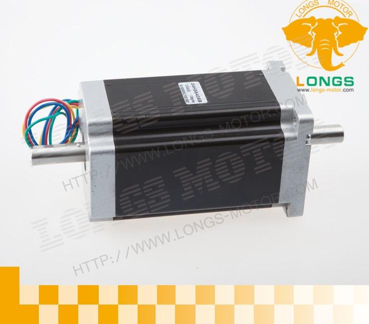 1pcs Nema 34 Dual shaft stepper motor 1600 oz.in CNC-- longs motor1pcs Nema 34 Dual shaft stepper motor 1600 oz.in CNC-- longs motor