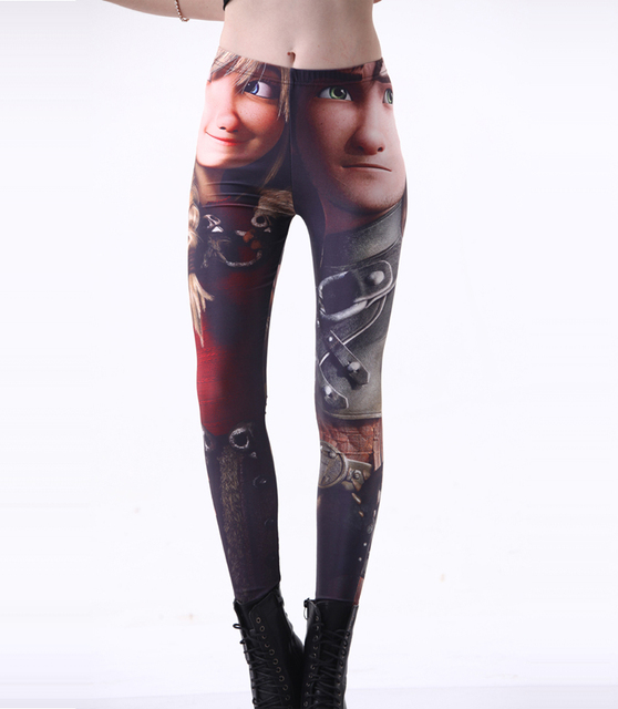 Fashion 3248  sexy girl women How to Train Your Dragon hiccup 3D prints Polyester elastic fitness Leggings Pants