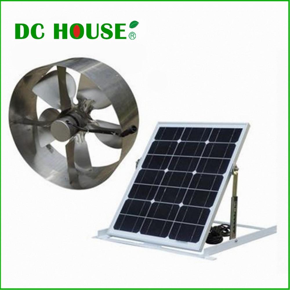 Solar Power Attic Gable Roof Vent Brushless DC Motor 1720 CFM Ventilator Fan With 29 Watt Mono Solar Panel diy solar power generator dc motor fan solar toy for science education model