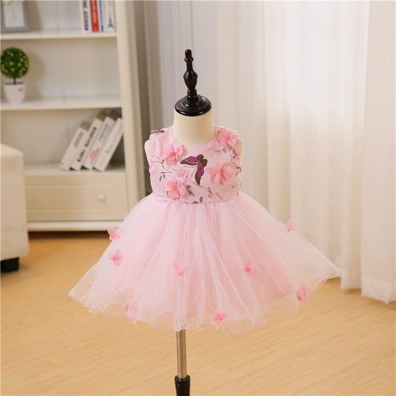 Vestido de niña recién nacido Vestidos de fiesta de cumpleaños - Ropa de bebé