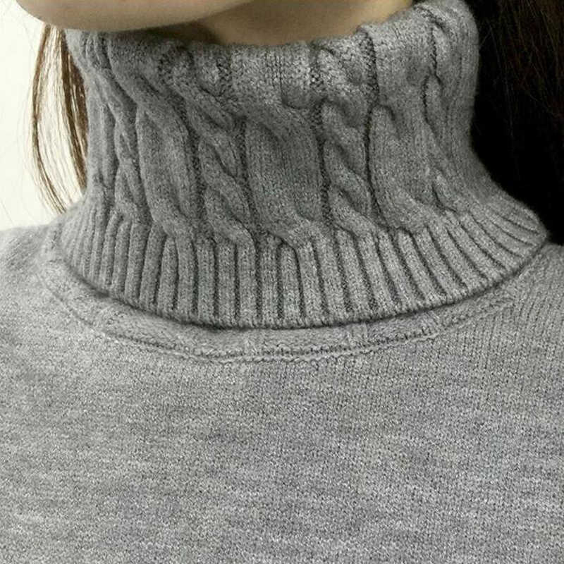 Vrouwen Coltrui Truien 2020 Winter Dikke Warme Truien En Pullovers Knit Lange Mouwen Kasjmier Trui Vrouwelijke Jumper Tops