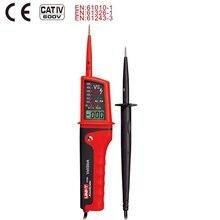Uni t Ut15c dijital gerilim metre 24V ~ 690V AC/DC Volt test cihazı su geçirmez Ip65 tipi süreklilik faz dönüş polarite dedektörü