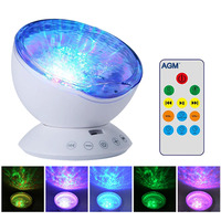 Ocean Wave Starry Sky Aurora LED Night Light With Mini Music Light UP Toys Novelty USB
