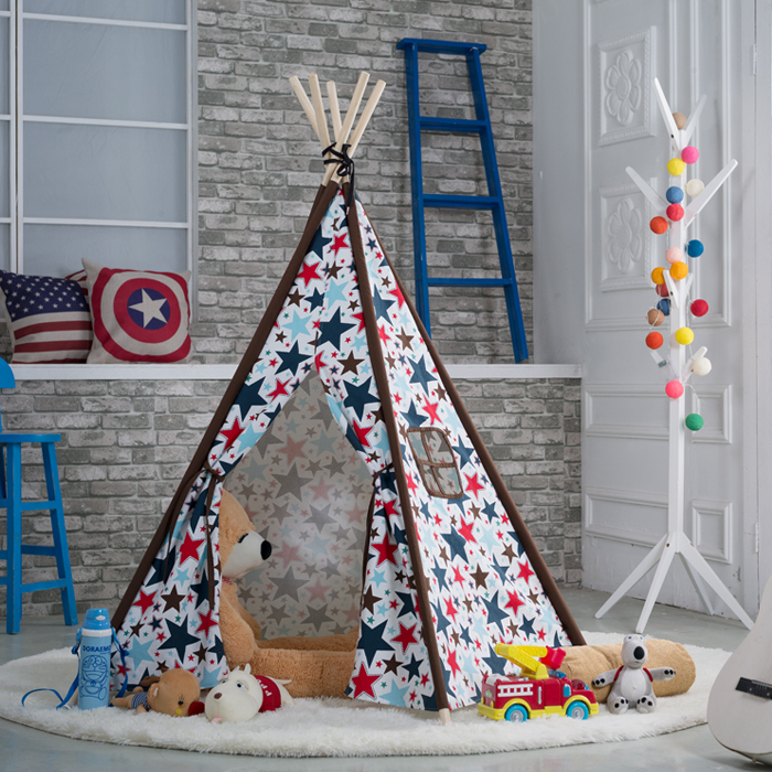 Pentagon children tent cotton canvas play tent indoors games teepee tent cubby house-in Toy Tents from Toys u0026 Hobbies on Aliexpress.com | Alibaba Group & Pentagon children tent cotton canvas play tent indoors games ...