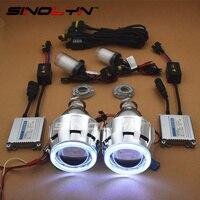 Free Shipping Motorcycle Parts 2 5 Inch Bixenon HID Motorcycle Car Xenon Angel Eye Projector Lens