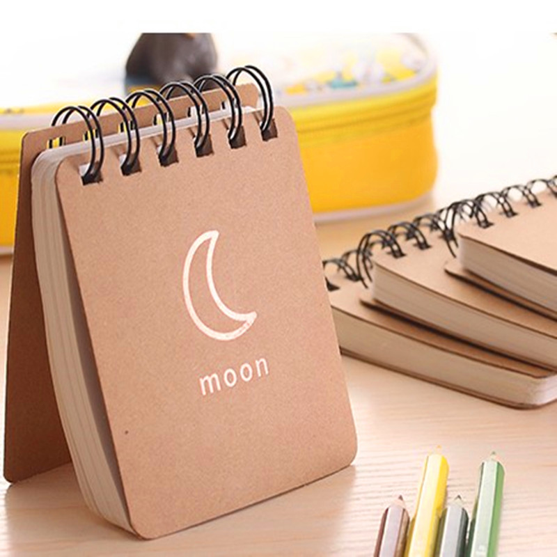 NNRTS Weather Forecast Kraft Paper Notebook Journal Diary Notepad Vintage Soft Copybook Daily Memos Pads Cute Stationery