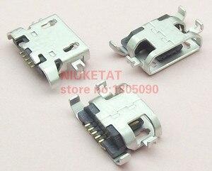 Image 1 - 1000pcs מיקרו USB 5pin כבד צלחת 1.28mm שטוח פה ללא קרלינג צד נקבה מחבר עבור Lenovo טלפון נייד מיני USB שקע