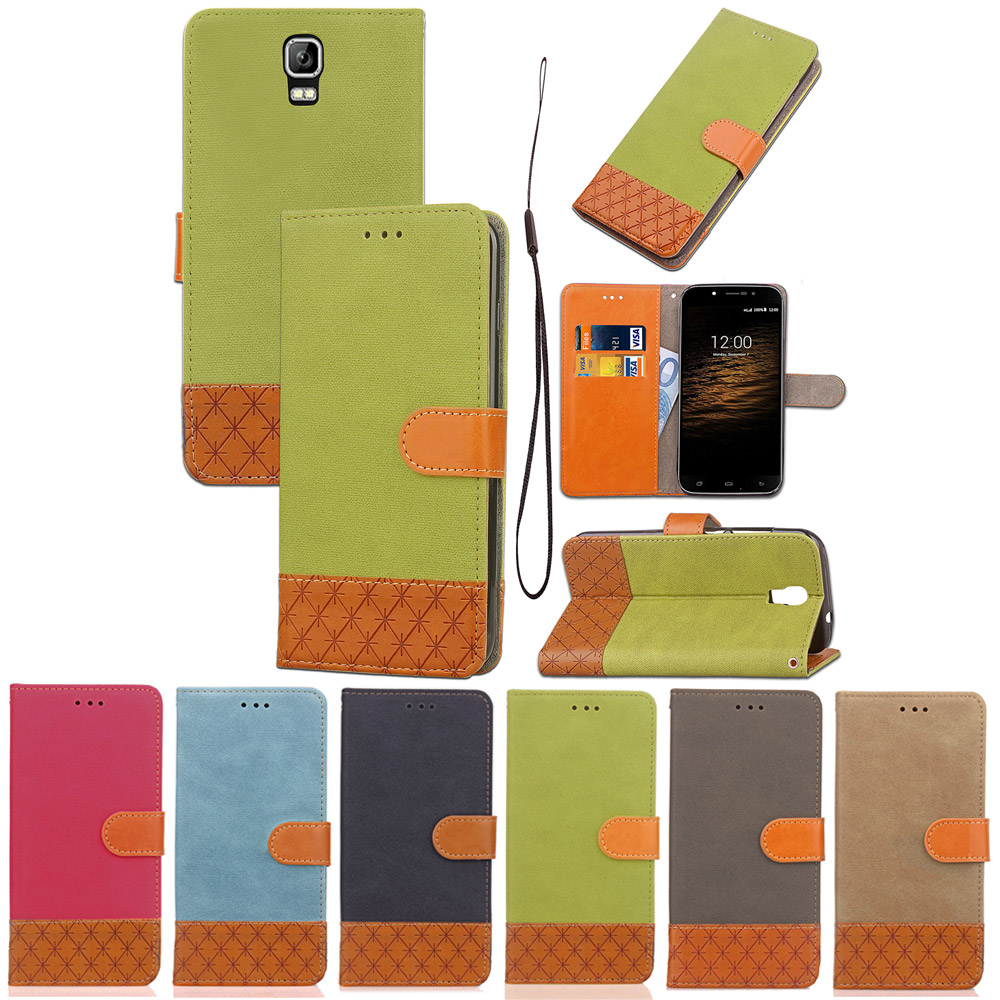 FQYANG Denim Patterned Flip phone case For UIMI ROME X Magnetic Wallet Flip PU Leather Stand Case For UIMI ROME X Cover Card