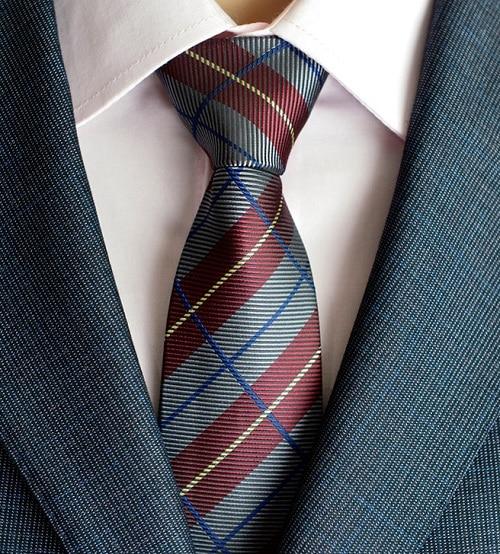 Klasična muška svilena kravata za vrata od 8 cm, vezanje paisley i - Pribor za odjeću - Foto 5