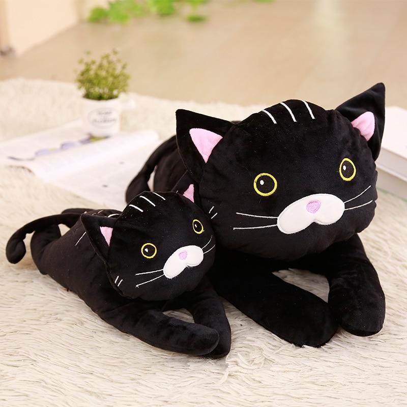 1pc 30/50cm Mysterious Black Cat Plush Toys Stuffed Soft Cartoon Animal Pillow Simulation Doll Cute Birthday Gift For Children