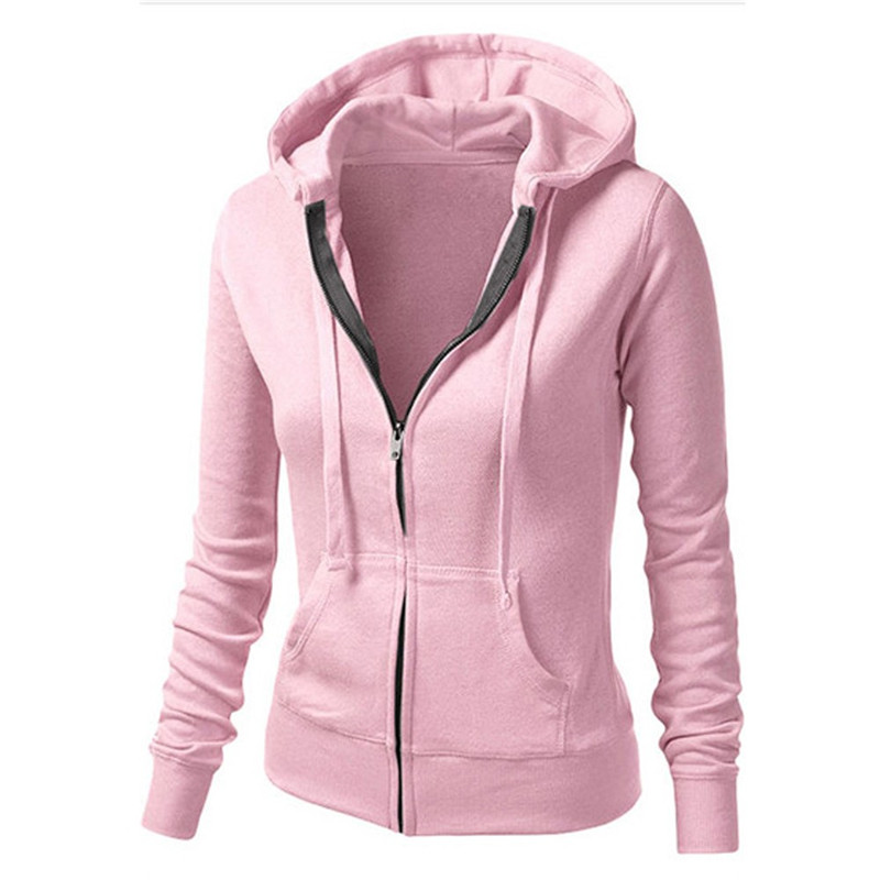 # Vestido 2017 Ladies tops Esporte Zipper Hoodies Hooded Sweatshirt Warm winter Coat Women Jacket Jaqueta Feminina17