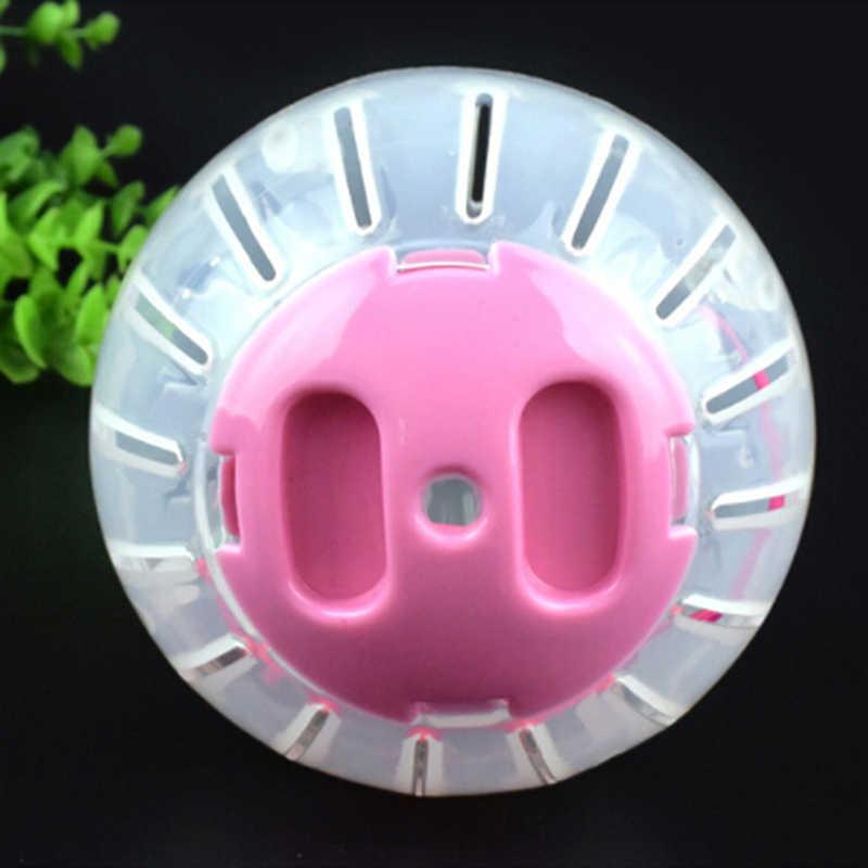 اثنين من لون تشغيل الكرة للمنزل الحيوانات الأليفة شفافة تشغيل الكرة البلاستيك Grounder الركض الحيوانات الأليفة لعبة الهامستر الصغيرة