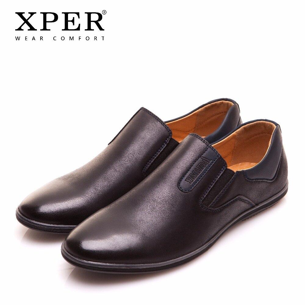 XPER Brand New Primavera Autunno Uomo Scarpe Comode Slip-On Degli Uomini Mocassini Moda Casual Degli Appartamenti Degli Uomini Scarpe YM86831BU/ BN
