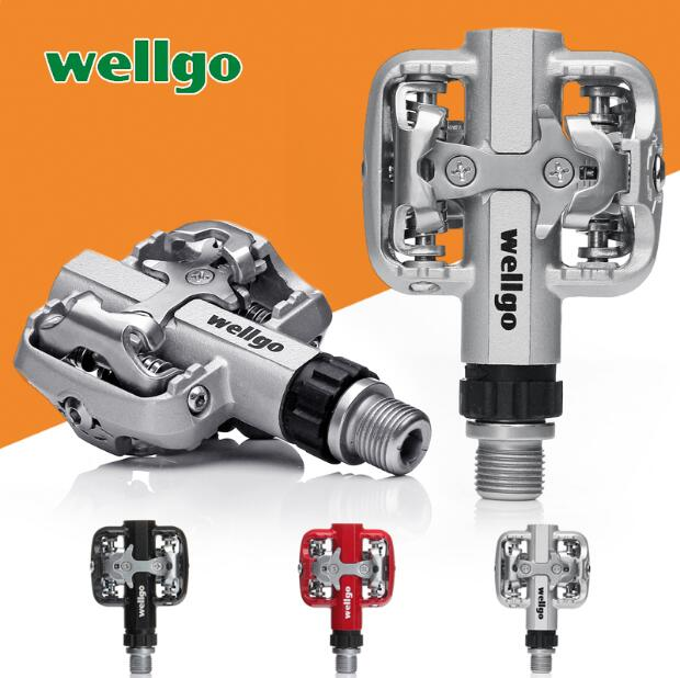 Wellgo WM001 Self-Lock MTB Mountain Bike Clipless Pedals With Cleats SPD Compatible for ultra DU Sealed Cycling Bicycle Pedal shimano pd m520 mtb mountain bike clipless pedals with spd cleats sm pd22 black