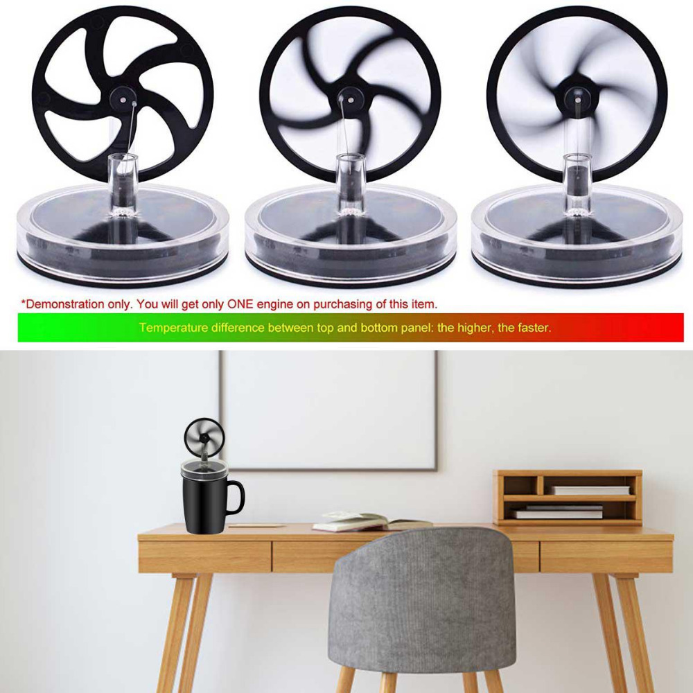 Low Temperature Stirling Engine Creative Temperature Difference Engine Educational Experimental Model Toy Coffee Cup Toys
