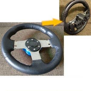Image 3 - Base do volante com versão melhorada, carcaça de caixa para logitech g29 g27, acessórios para substituição de volante com paddles