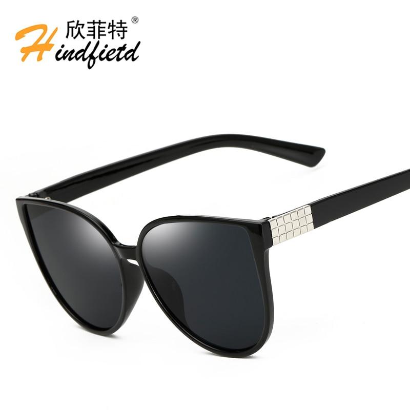 Hindfield Brand Designer Unisex Oversized Sunglasses Big Size Women Cat Eye Sun Glasses Driving Eyeglasses for Men oculos