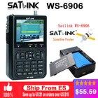 Original Satlink WS-6906 3.5 inch LCD DVB-S FTA Digital Satellite Signal WS 6906 satellite Finder WS6906 Meter free shipping