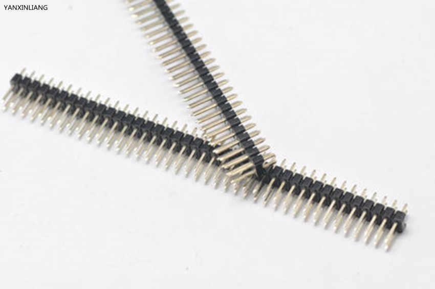 5 pièces plaqué or pas 2.54mm 2x40 broches 80 broches Double rangée mâle broche en-tête bande droite aiguille connecteur