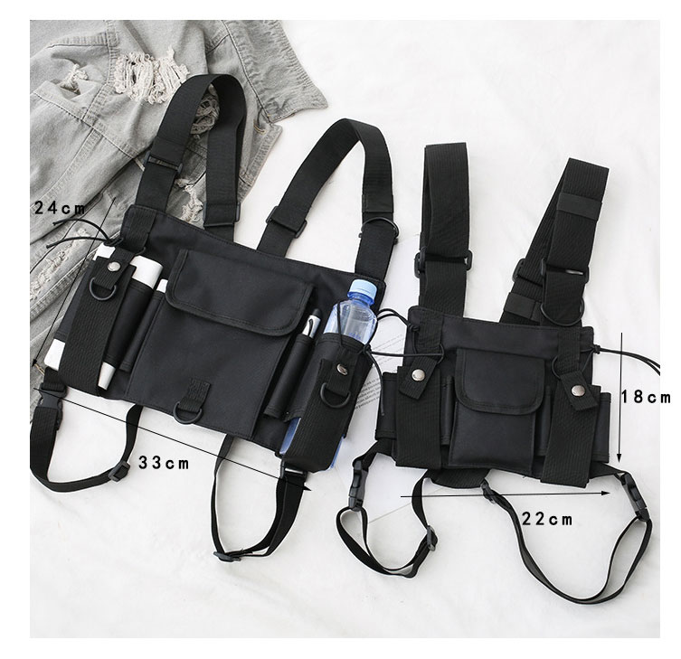 HTB1h8wdX.T1gK0jSZFrq6ANCXXaH - Functional Tactical Chest Bag For Men Fashion Bullet Hip Hop Vest Streetwear Bag Waist Pack Women Black Chest Rig Bag 233