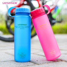 UZSPACE 500 ml/650 ml/1000 ml Material Tritan Botella de Agua Portable Botellas A Prueba de Fugas Mi Deporte Acampar Al Aire Libre hervidor de agua Libre de BPA