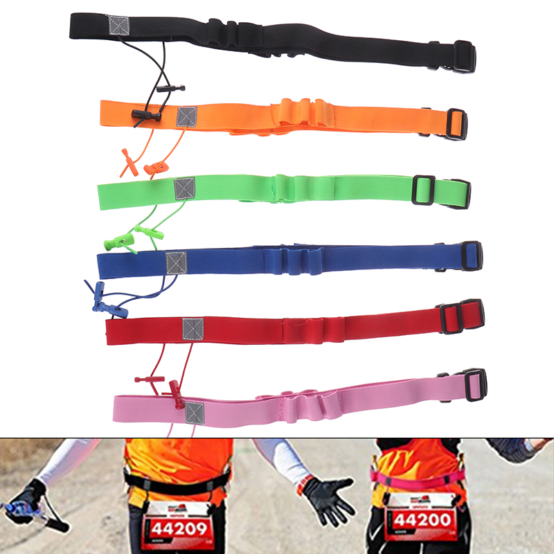 Men Women Triathlon Marathon Race Number Belt Running Waist Pack Cloth Bib Holder Run Bag Gym Fitness Sport Accessories