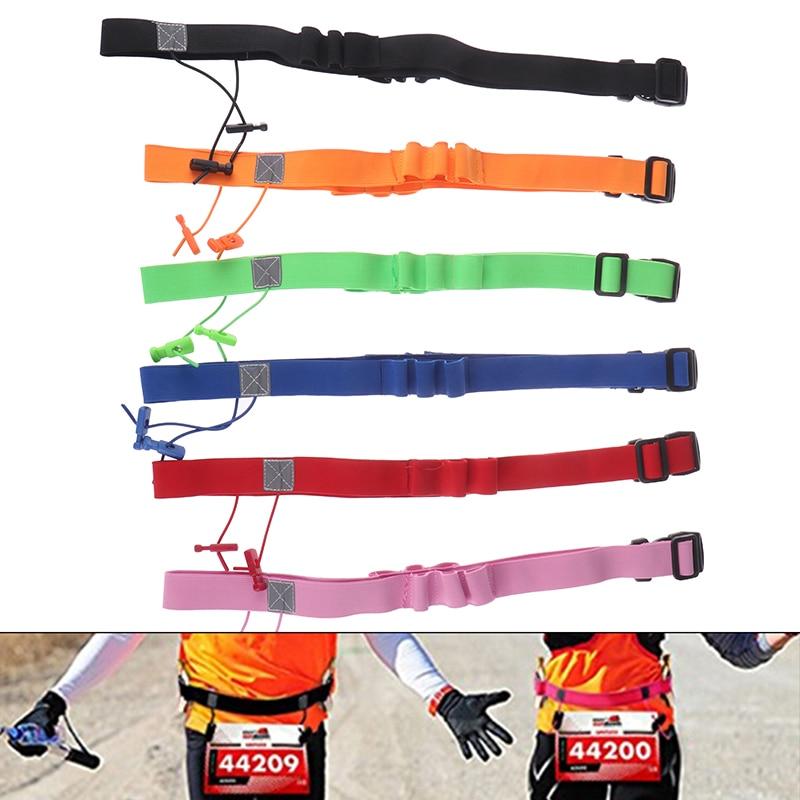 Men Women Triathlon Marathon Race Number Belt Running Waist Pack Cloth Bib Holder Run Bag Gym Fitness Sport Accessories